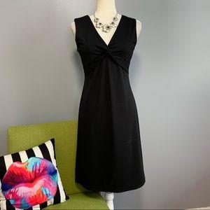 New York & Company Black Twist Bust Dress